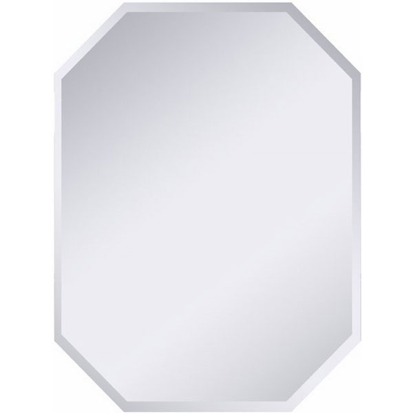 Modern Frameless Beveled Border Octagonal Wall Mirror