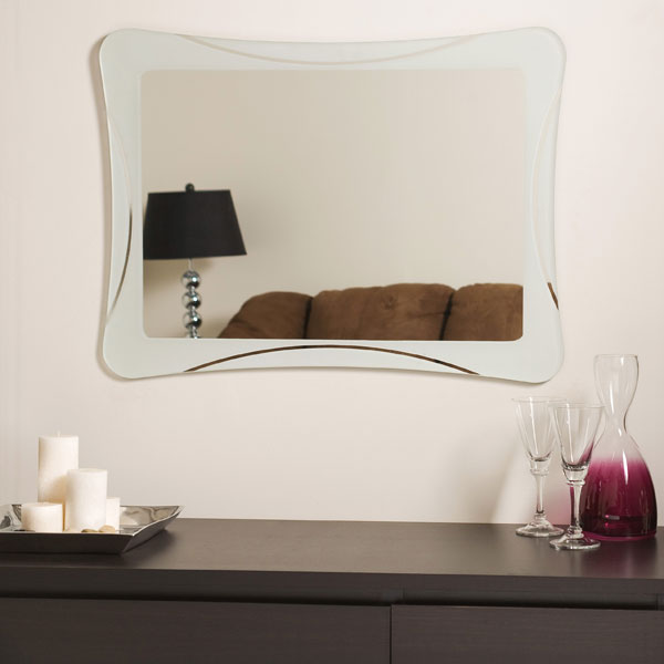 Butterfly Frameless Bathroom Mirror