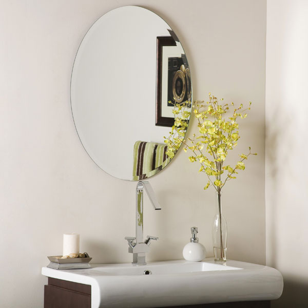 Ordinaire Oval Frameless Bathroom Mirror