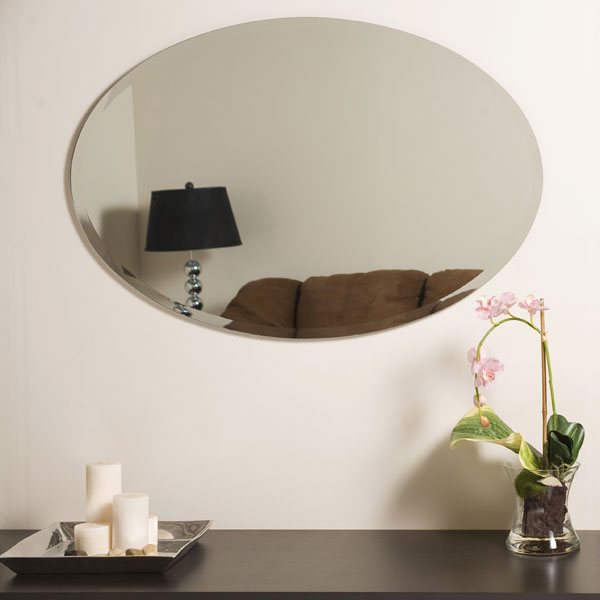 Large Oval Frameless Bathroom Mirror Dcg Stores