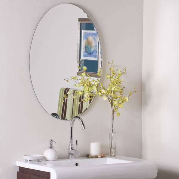 Modern Oval Frameless Wall Mirror