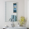 Zebra Frameless Bevel Wall Mirror - DWM-SSM39