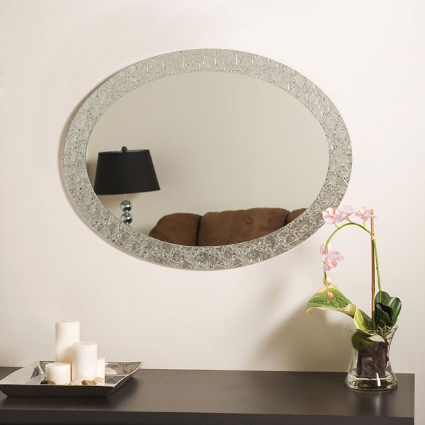 Luxor Frameless Oval Wall Mirror