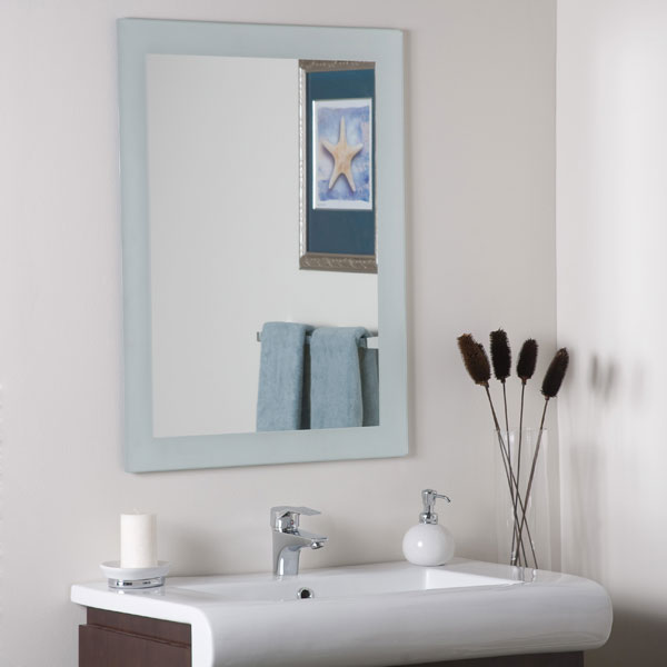 Sands Large Frameless Wall Mirror : DCG Stores
