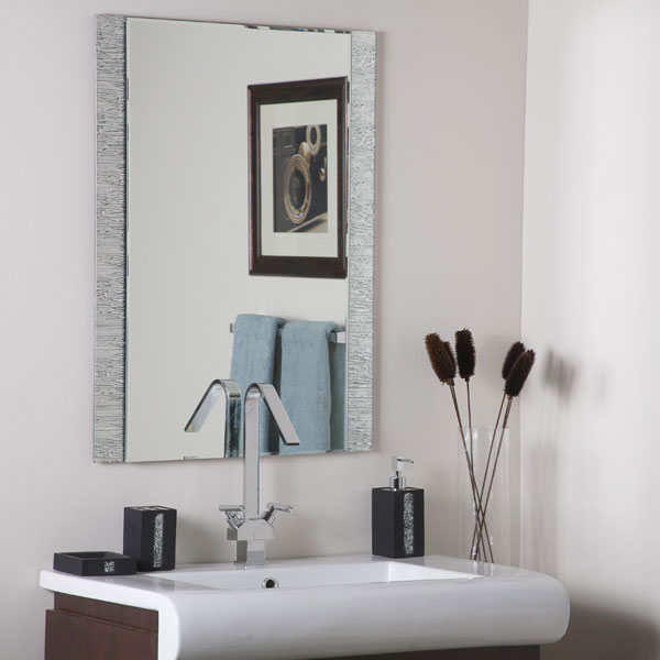 Molten Frameless Bathroom Mirror