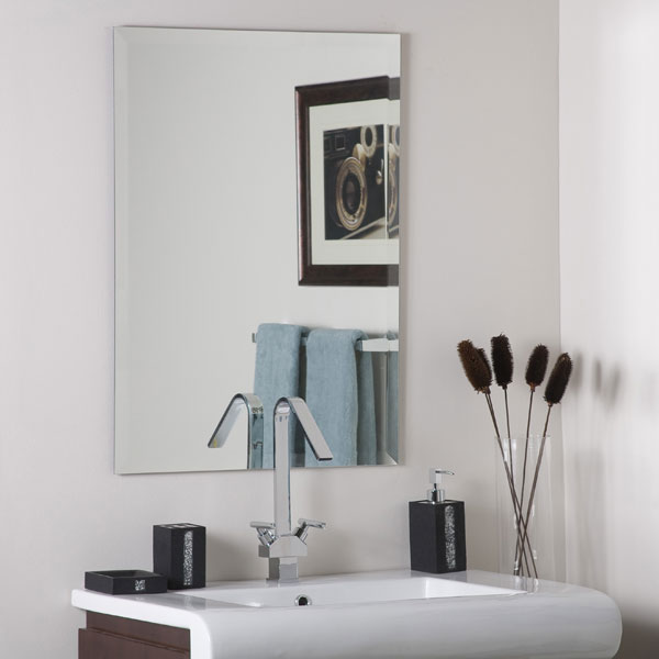 Frameless Square Bevel Mirror