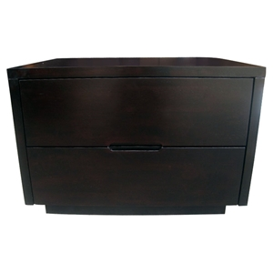 Bliss Wenge Wood Nightstand with 2 Drawers