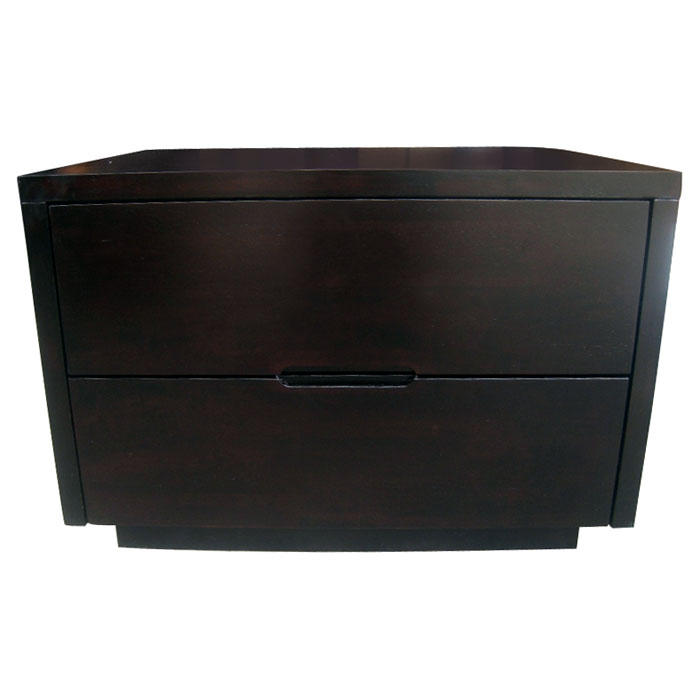 Bliss Wenge Wood Nightstand With 2 Drawers Dcg Stores