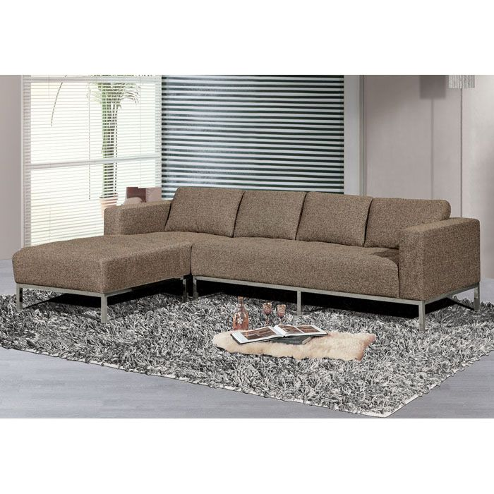 Dresden gray sectional sofa with left facing chaise dcg for Sectional sofas left facing chaise
