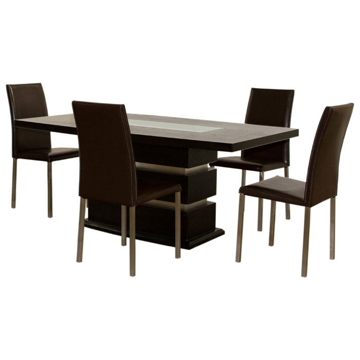 71 Inch Rectangular Dining Table and Four Side Chairs
