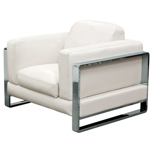 Annika Leatherette Armchair - White