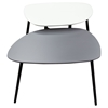 Bistro Two Tiers Cocktail Table - Gray and White - DS-BISTROCTWHGR