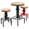 Brooklyn Adjustable Height Stool - Weathered Gray, Red - DS-BROOKLYNSTRE