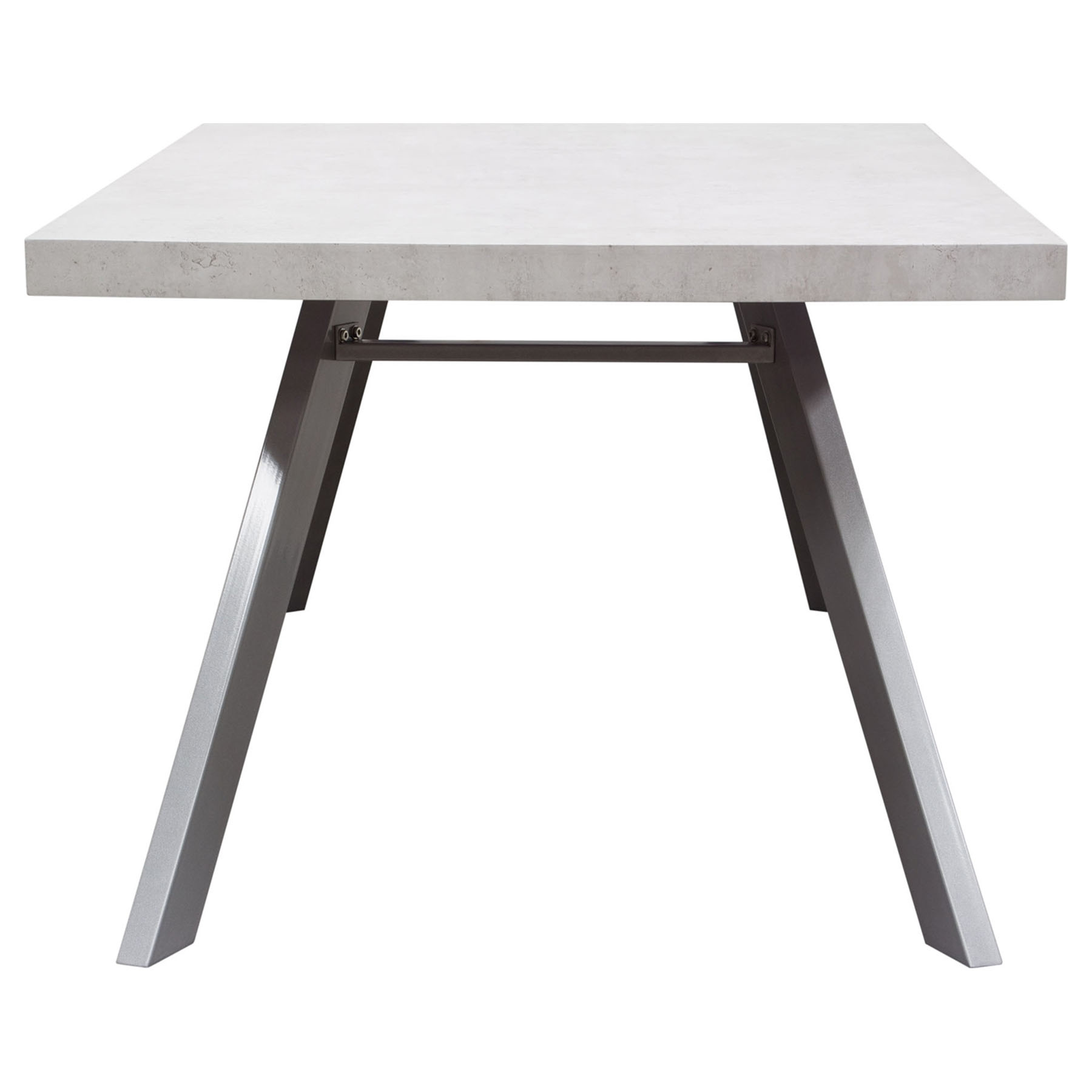 Carrera rectangular dining table white dcg stores for Table carrera