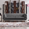 Catalina Button Tufted Sofa - Gray Fabric - DS-CATALINASOGR