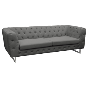 Catalina Button Tufted Sofa - Gray Fabric