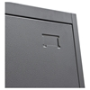 Nova Qwik Metal Closet - Mirror, Key Lock Entry, Dark Gray - DS-CCMSDG