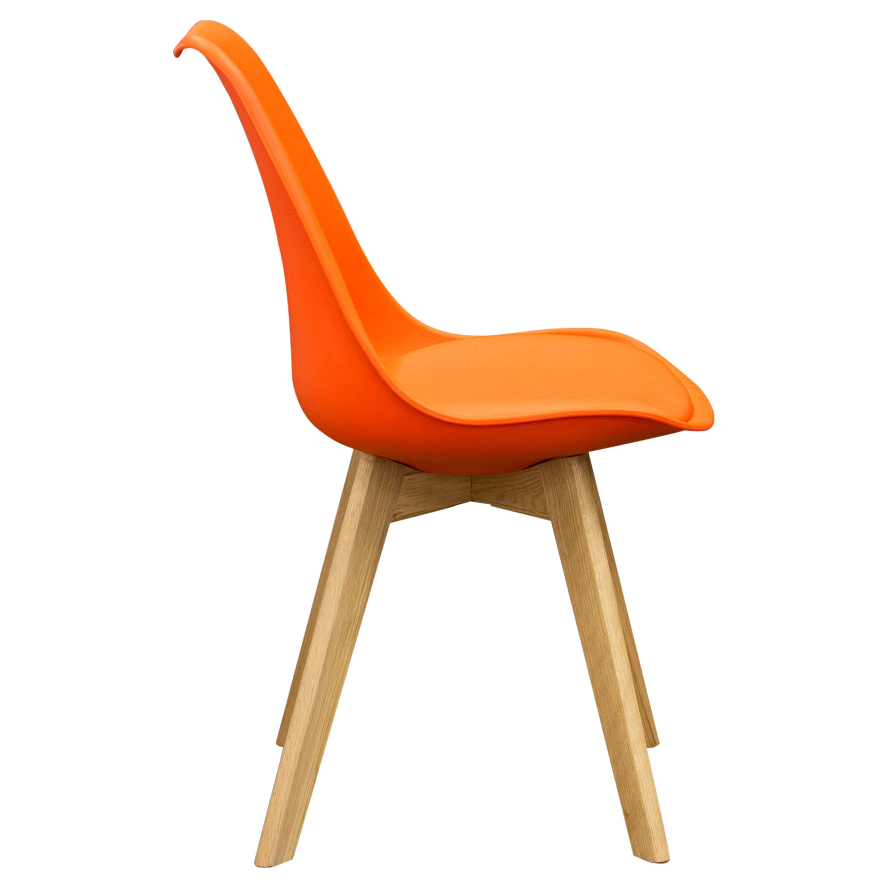 Coda Dining Chair Orange Leatherette Set Of 2 Dcg Stores