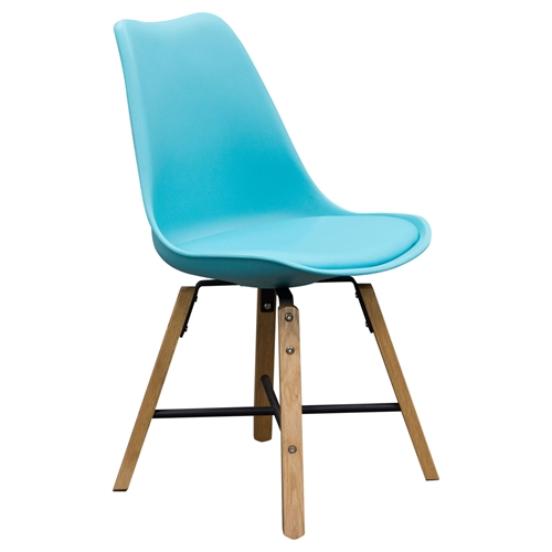 Coda Leatherette Dining Chair Turquoise Set Of 2 Dcg