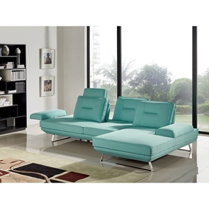Contempo 2-Piece Sectional - Left Arm Facing Sofa, Adjustable Backrest, Seafoam