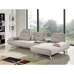 Contempo 3-Piece Sectional with Left Arm Facing Sofa - Adjustable Backrest, Sand