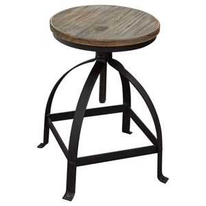 Davis Adjustable Height Stool - Weathered Gray, Black (Set of 2)