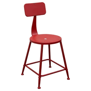 Douglas Metal Stool - Red (Set of 2)