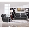 Duncan Dual Reclining Sofa and Armchair - Leatherette, Slate Gray - DS-DUNCANRSCGR