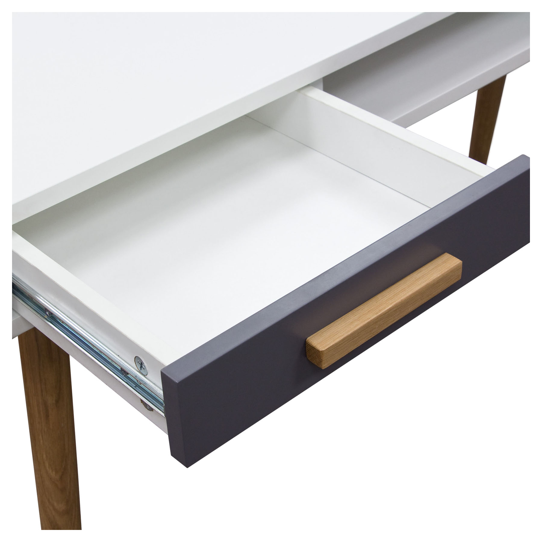 Echo 2 Drawers Desk Office - White And Gray