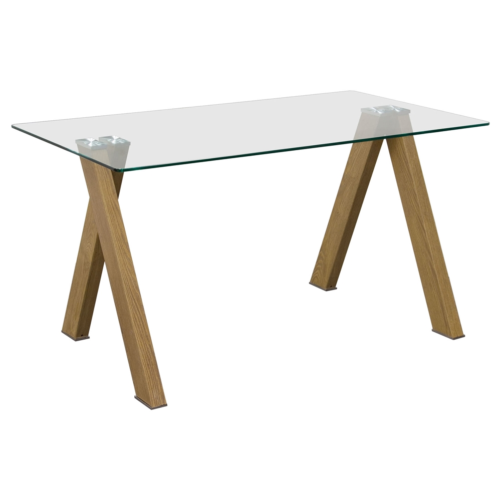 Element Rectangular Dining Table Glass Top Dcg Stores