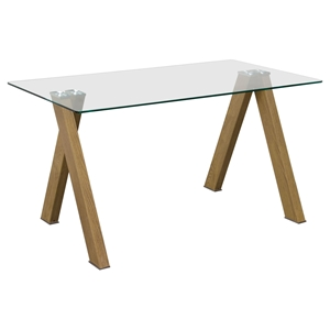 Element Rectangular Dining Table - Glass Top