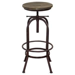 Fairfax Adjustable Height Stool - Weathered Brown, Rust Black (Set of 2)