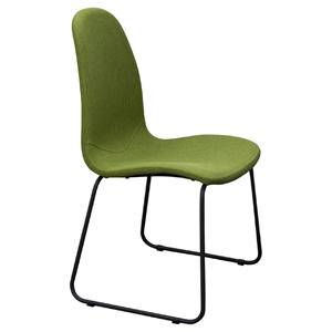 Finn Dining Chair - Green Fabric (Set of 2)