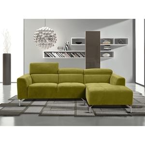 Gemma 2-Piece Sectional - Right Arm Facing Chaise, Adjustable Headrest, Kiwi Green