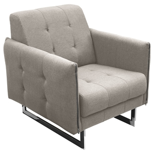 Hampton Convertible Tufted Armchair - Sandstone Fabric