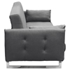 Hampton Convertible Tufted Sofa - Graphite Fabric - DS-HAMPTONSBGP