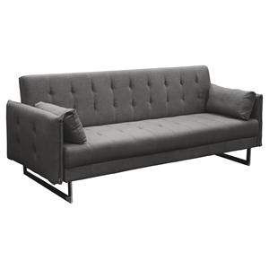 Hampton Convertible Tufted Sofa - Graphite Fabric