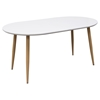 Ion Oval Extension Dining Table - White   DCG Stores