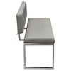 Knox Leatherette Bench - Gray - DS-KNOXBBEGR