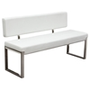 Knox Leatherette Bench - White - DS-KNOXBBEWH