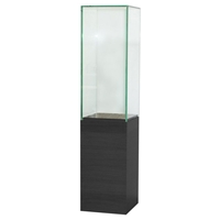 60 Inch Glass Tower Display with Pedestal Base