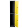 Nova Qwik Metal Storage Locker Cabinet - 2 Door, Yellow, Dark Gray - DS-LB2YL