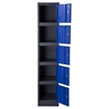 Nova Qwik Metal Storage Locker Cabinet - 5 Doors, Blue, Dark Gray - DS-LB5BU