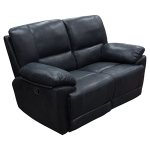 Mason Dual Reclining Loveseat - Black