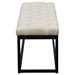 Mateo Small Bench - Tufted, Desert Sand, Black - DS-MATEOBESSD