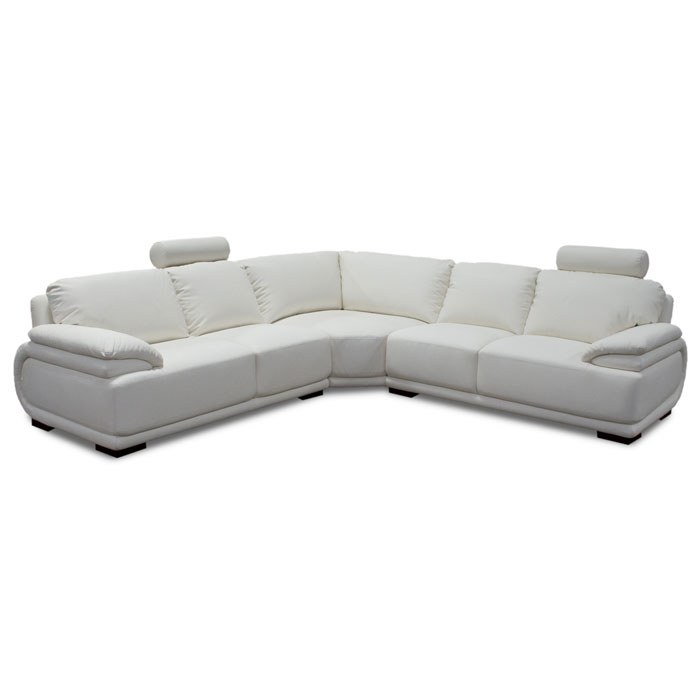 Milano Three Piece Leather Sectional with Headrests - DS-MILANO3PCSECTX