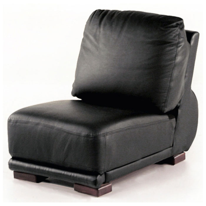 Milano Leather Armless Chair