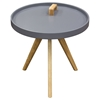 Mobi Accent Tray Table - Gray, Oak, Designer Handle - DS-MOBIETGR