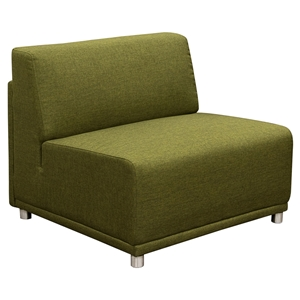 Moderna Accent Chair - Armless, Green