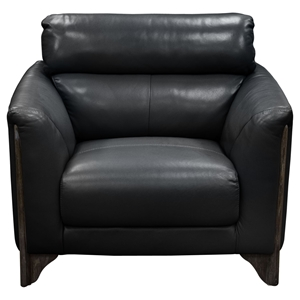 Monaco Leatherette Chair - Black